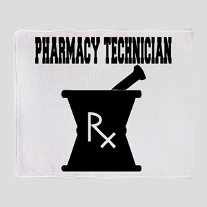 Pharmacy Technician Rx Throw Blanket