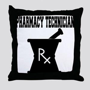 Pharmacy Technician Rx Throw Pillow