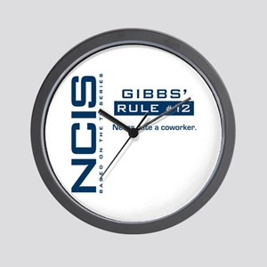 NCIS Gibbs' Rule #12 Wall Clock