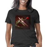 Rose and balisong-cropped- Women's Classic T-Shirt