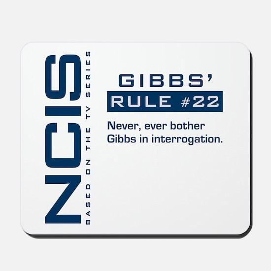 NCIS Gibbs' Rule #22 Mousepad
