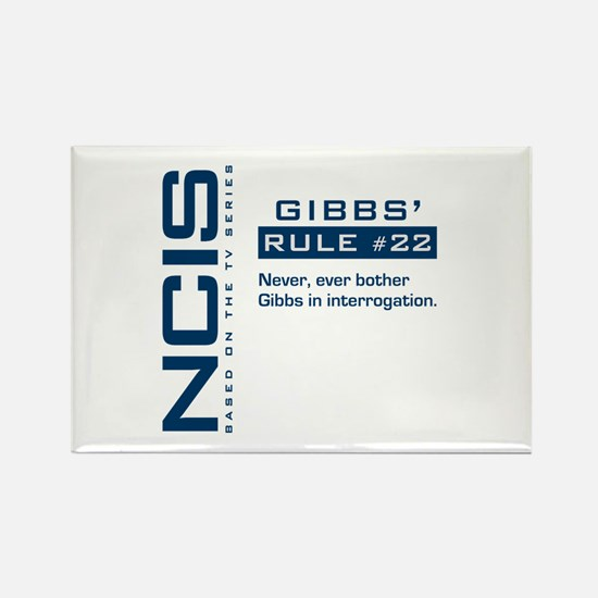 NCIS Gibbs' Rule #22 Rectangle Magnet (10 pack)
