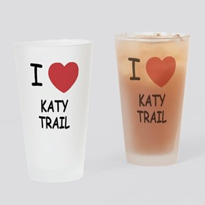 I heart katy trail Drinking Glass