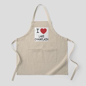I heart lake champlain Apron