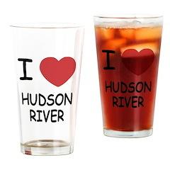 I heart hudson river Drinking Glass
