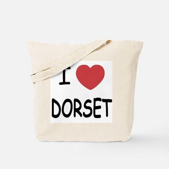I heart dorset Tote Bag