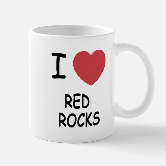 I heart red rocks Mug