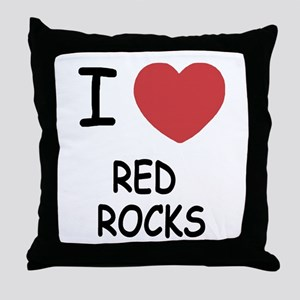 I heart red rocks Throw Pillow