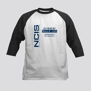 "NCIS Gibbs"" Rule #35 Kids Baseball Jersey"