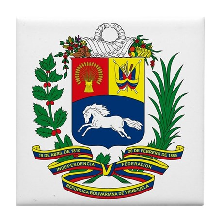 Venezuela Coat of Arms Tile Coaster