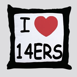 I heart 14ers Throw Pillow