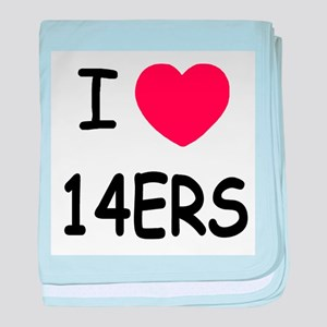 I heart 14ers baby blanket