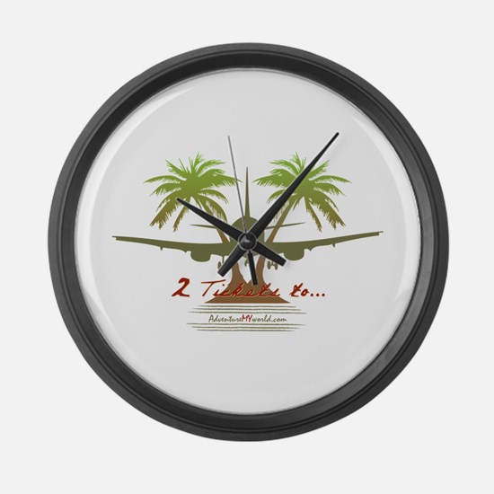 Travel Large Wall Clock