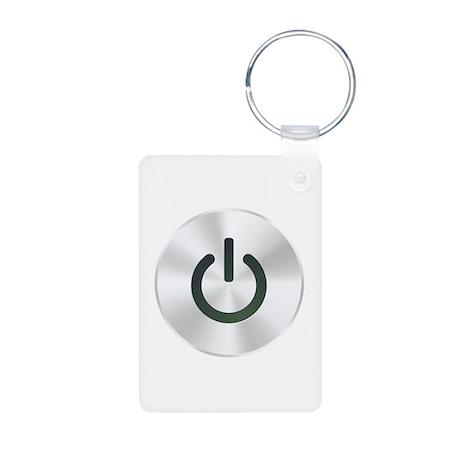 Power Button Aluminum Photo Keychain