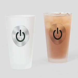Power Button Drinking Glass