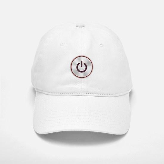 Power Button Baseball Baseball Cap