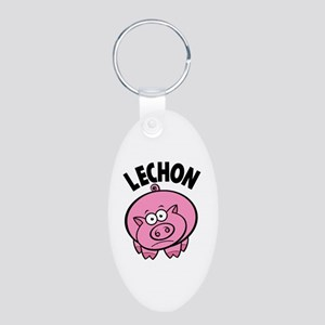 Lechon Aluminum Oval Keychain