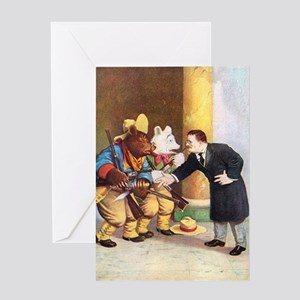 Roosevelt Bears Meet Teddy Roosevelt Greeting Card