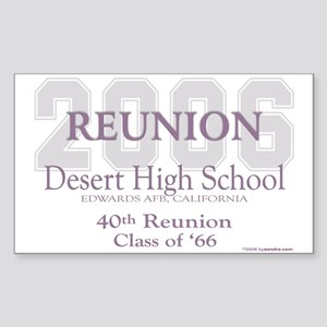 DHS-Class of '66 Rectangle Sticker