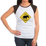 Rhino Crossing Sign Women's Cap Sleeve T-Shirt
