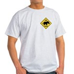 Rhino Crossing Sign Light T-Shirt