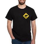 Rhino Crossing Sign Dark T-Shirt
