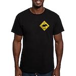Rhino Crossing Sign Men's Fitted T-Shirt (dark)