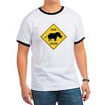 Rhino Crossing Sign Ringer T