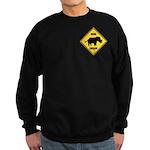 Rhino Crossing Sign Sweatshirt (dark)