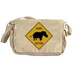 Rhino Crossing Sign Messenger Bag