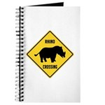 Rhino Crossing Sign Journal