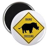 Rhino Crossing Sign Magnet