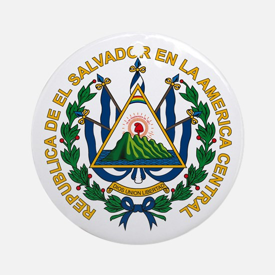 El Salvador Coat of Arms Ornament (Round)