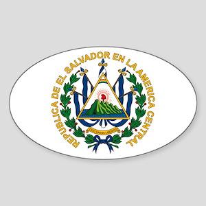 El Salvador Coat of Arms Oval Sticker