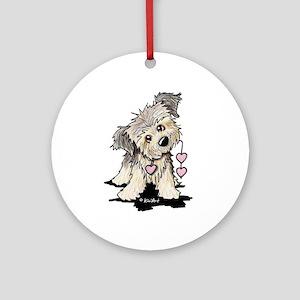 Heartstrings Border Terrier Ornament (Round)
