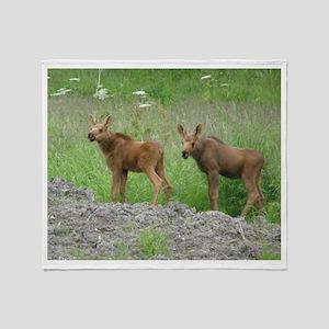 Twin Calves #01 Throw Blanket