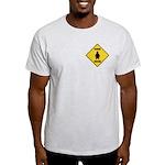Penguin Crossing Sign Light T-Shirt