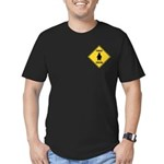 Penguin Crossing Sign Men's Fitted T-Shirt (dark)