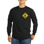 Penguin Crossing Sign Long Sleeve Dark T-Shirt