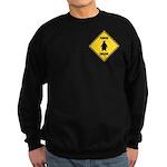 Penguin Crossing Sign Sweatshirt (dark)