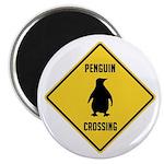 Penguin Crossing Sign Magnet