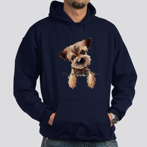 Pocket Border Terrier Hoodie (dark)