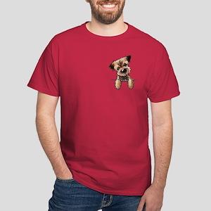 Pocket Border Terrier Dark T-Shirt