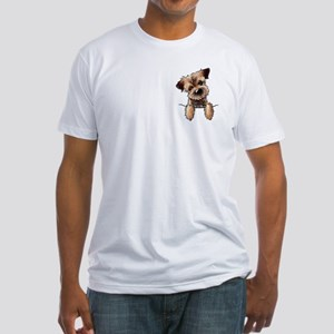 Pocket Border Terrier Fitted T-Shirt