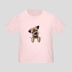 Pocket Border Terrier Toddler T-Shirt