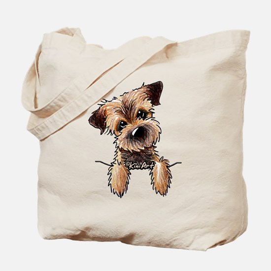 Pocket Border Terrier Tote Bag