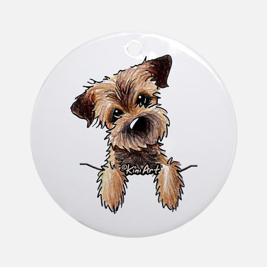 Pocket Border Terrier Ornament (Round)