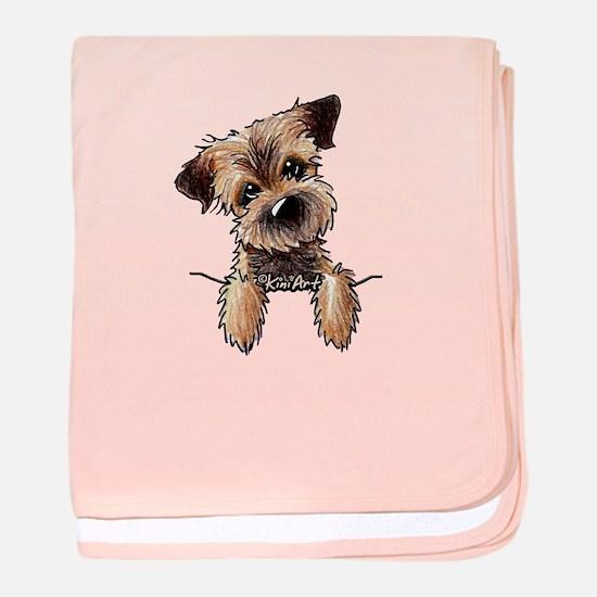 Pocket Border Terrier baby blanket