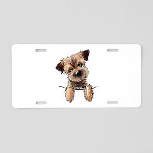 Pocket Border Terrier Aluminum License Plate
