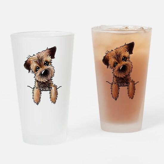 Pocket Border Terrier Drinking Glass